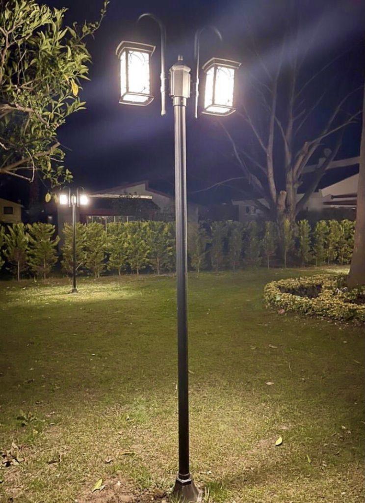 نحوه نصب پایه چراغ پارکی